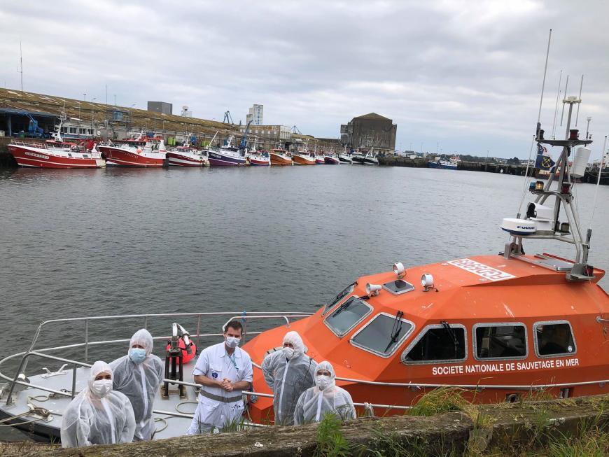 les sauveteurs de l'Ile de Groix le 22 mars 2020